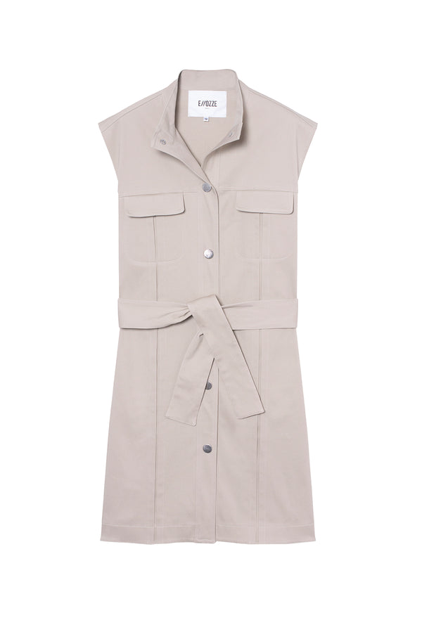 Gabardine Dress Alba Beige