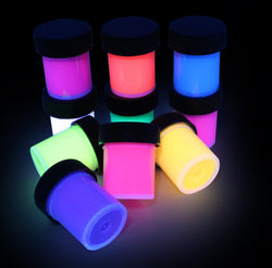 UV Neon Fluorescent Black Light Paints 10 Color 15ml Set - Glomania