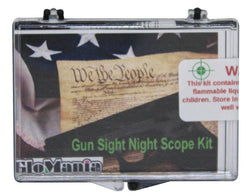Gun Night Sight Glow in the Dark Basic Kit - Glomania