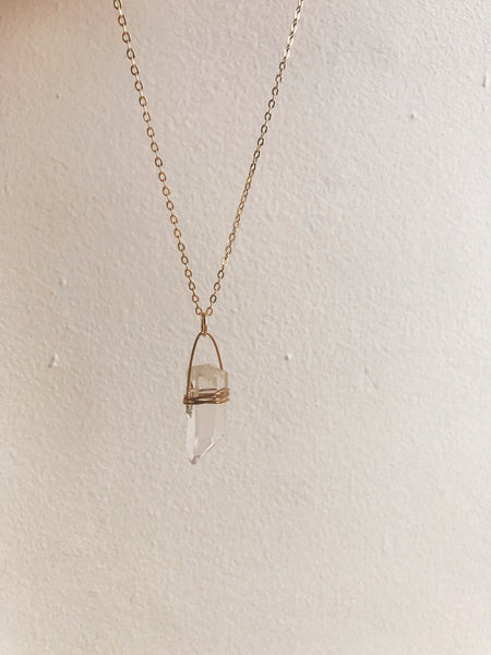 Clear Quartz Gold