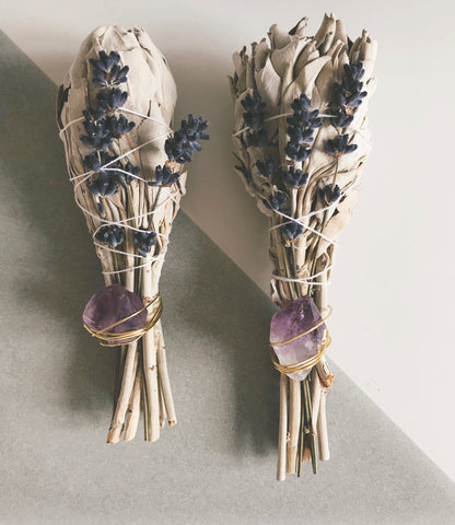 Amethyst and Sage for restful sleep
