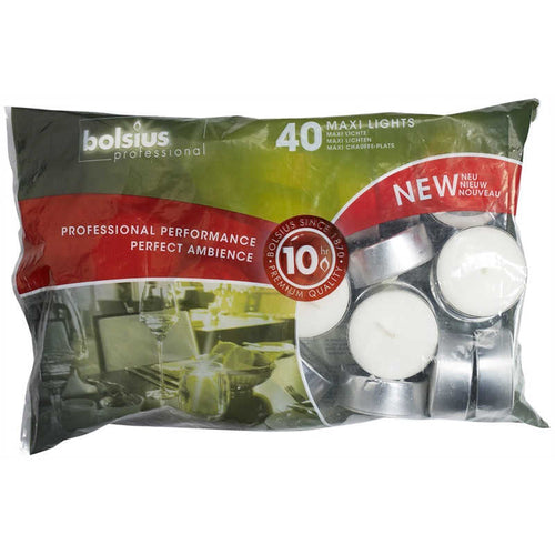 Bolsius maxi lights 40 pack