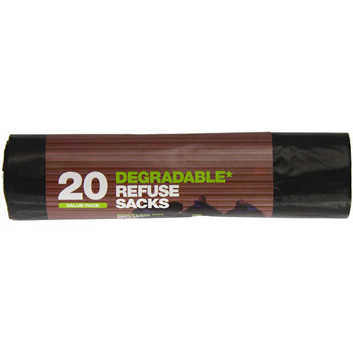 Essential Housewares 70 Litre Degradable Refuse Sacks (Pack of 20)