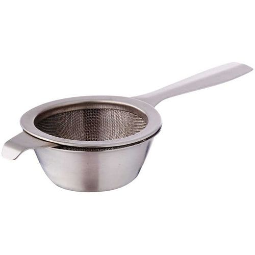 Sunnex Stainless Steel Tea Strainer with Drip Bowl (Assorted designs)
