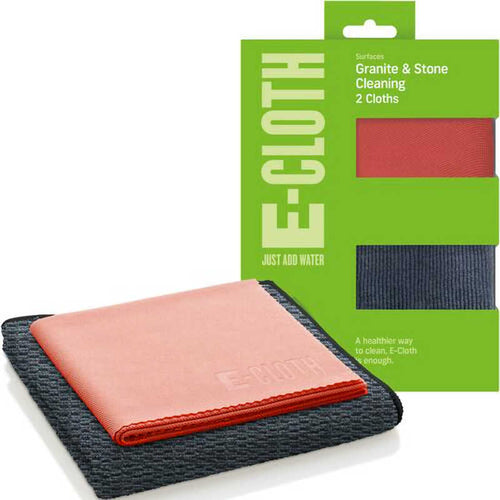 E-Cloth Granite and Stone Cleaning Pack (2 Cloths)