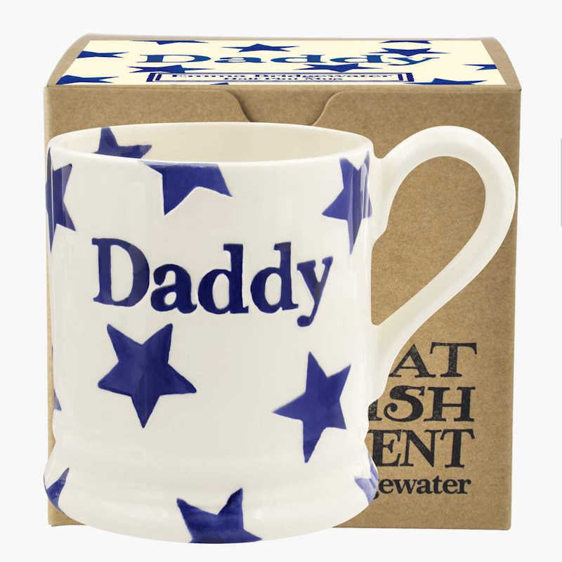 Emma Bridgewater Blue Star 'Daddy' 1/2 Pint Mug (Boxed)
