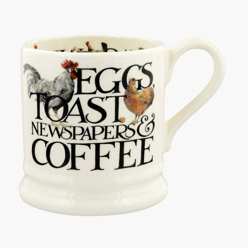 Emma Bridgewater Rise and Shine Eggs and Toast 1/2 Pint Mug