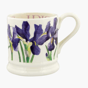 Emma Bridgewater Flowers Blue Iris 1/2 Pint Mug