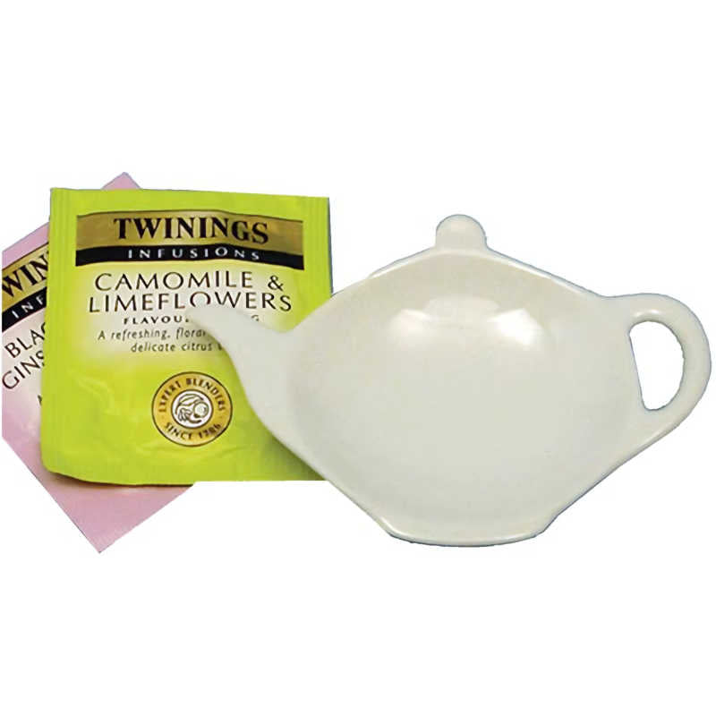 Apollo White Ceramic Teabag Tidy