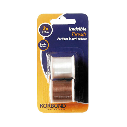 Korbond Invisible Threads Clear and Smoke