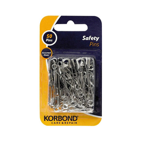 Korbond Safety Pins (Pack of 50)