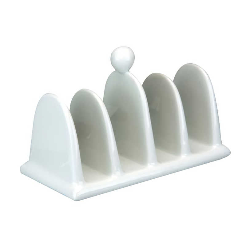 Apollo White Ceramic Toast Rack