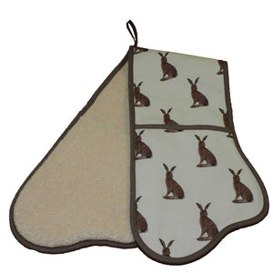 Norfolk Kitchen Double Oven Glove Hares