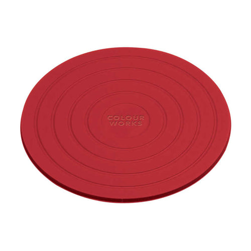 Colourworks Silicone Coaster red
