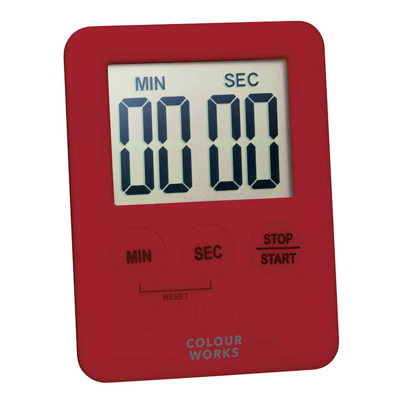 Colourworks Slimline Digital Timer red