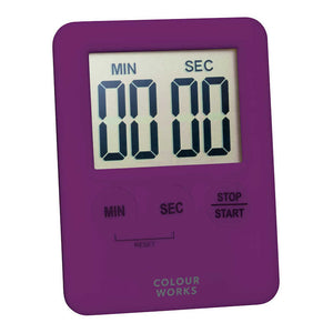 Colourworks Slimline Digital Timer purple