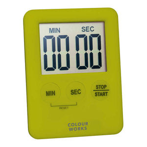 Colourworks Slimline Digital Timer green