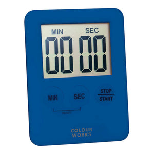 Colourworks Slimline Digital Timer blue