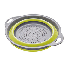 Load image into Gallery viewer, colourworks collapsible colander green collapsed