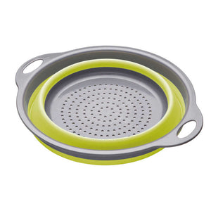 colourworks collapsible colander green collapsed