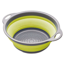 Load image into Gallery viewer, colourworks collapsible colander green expanded
