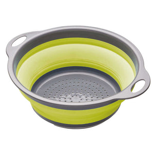 colourworks collapsible colander green expanded