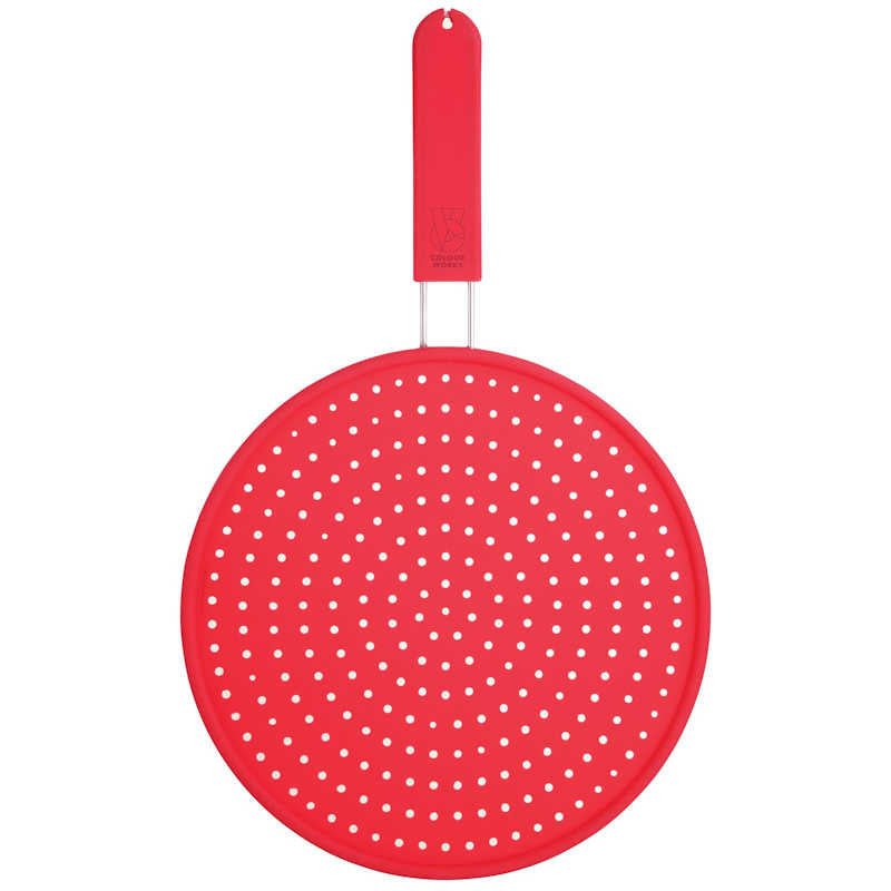 Colourworks Silicone Splatter Screen Red