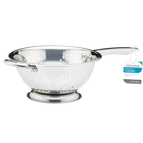 KitchenCraft Stainless Steel 24cm Long Handled Colander