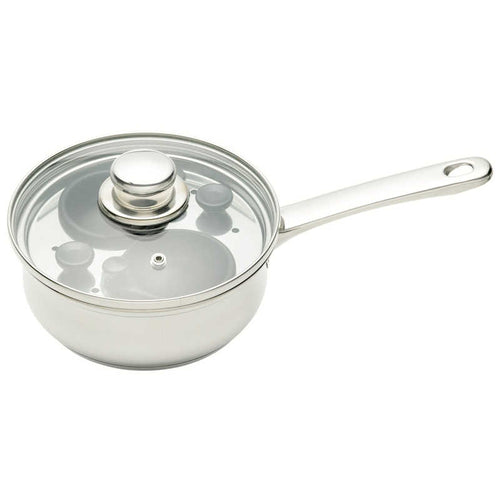 KitchenCraft Stainless Steel Two Hole Egg Poacher
