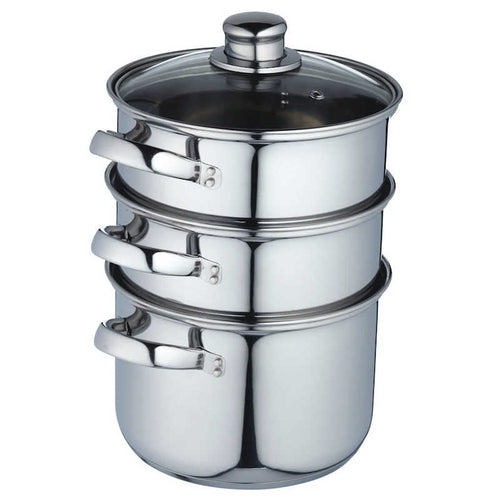 KitchenCraft Stainless Steel Three Tier Steamer