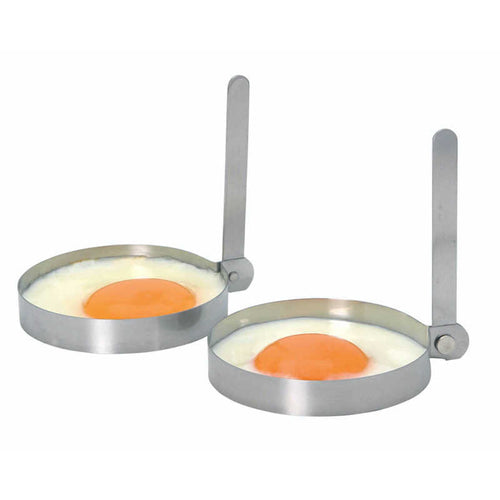 KitchenCraft Set of 2 Stainless Steel Round Egg Rings