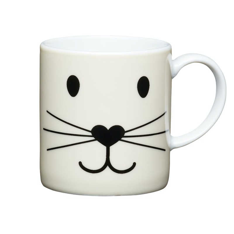 Kitchen Craft 80ml Porcelain Espresso Cup Cat Face