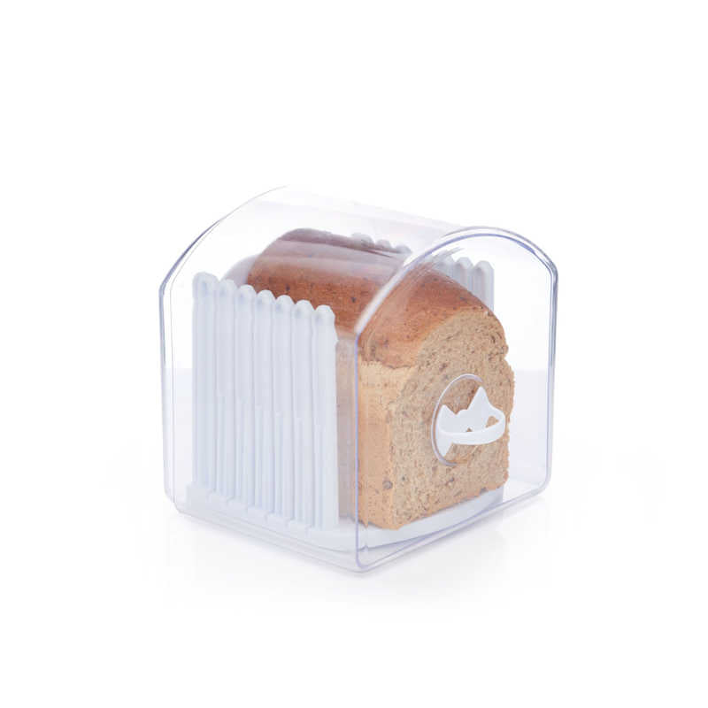 KitchenCraft Clear Acrylic Expandable Breadkeeper Compacted