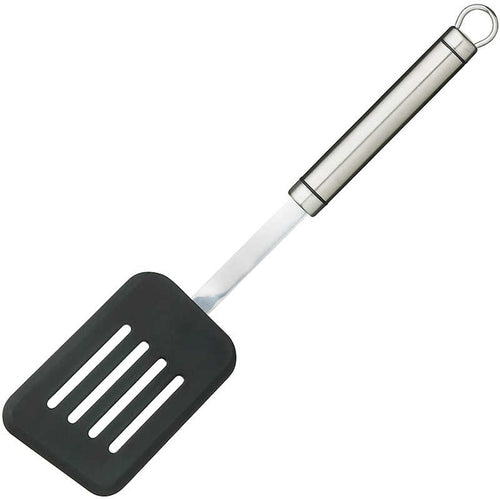 KitchenCraft Oval Handled Stainless Steel Non-Stick Slotted Turner