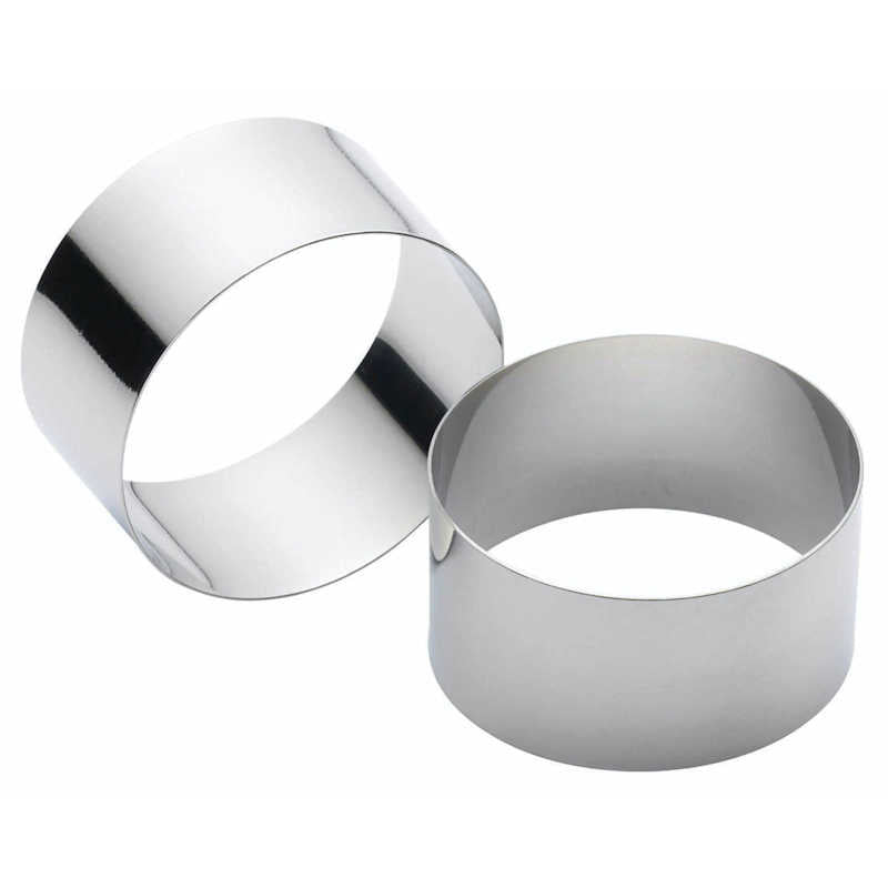 Kitchen Craft Set of 2 Cooking Rings (Assorted Sizes)