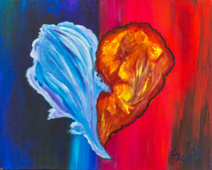 Fire and Ice #1 the kiss 16x 20