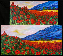 Load image into Gallery viewer, Poppy fields Blue mountains 12x24