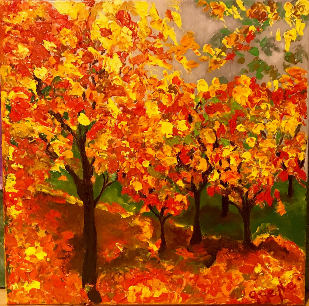 Autumn Trees 12x12