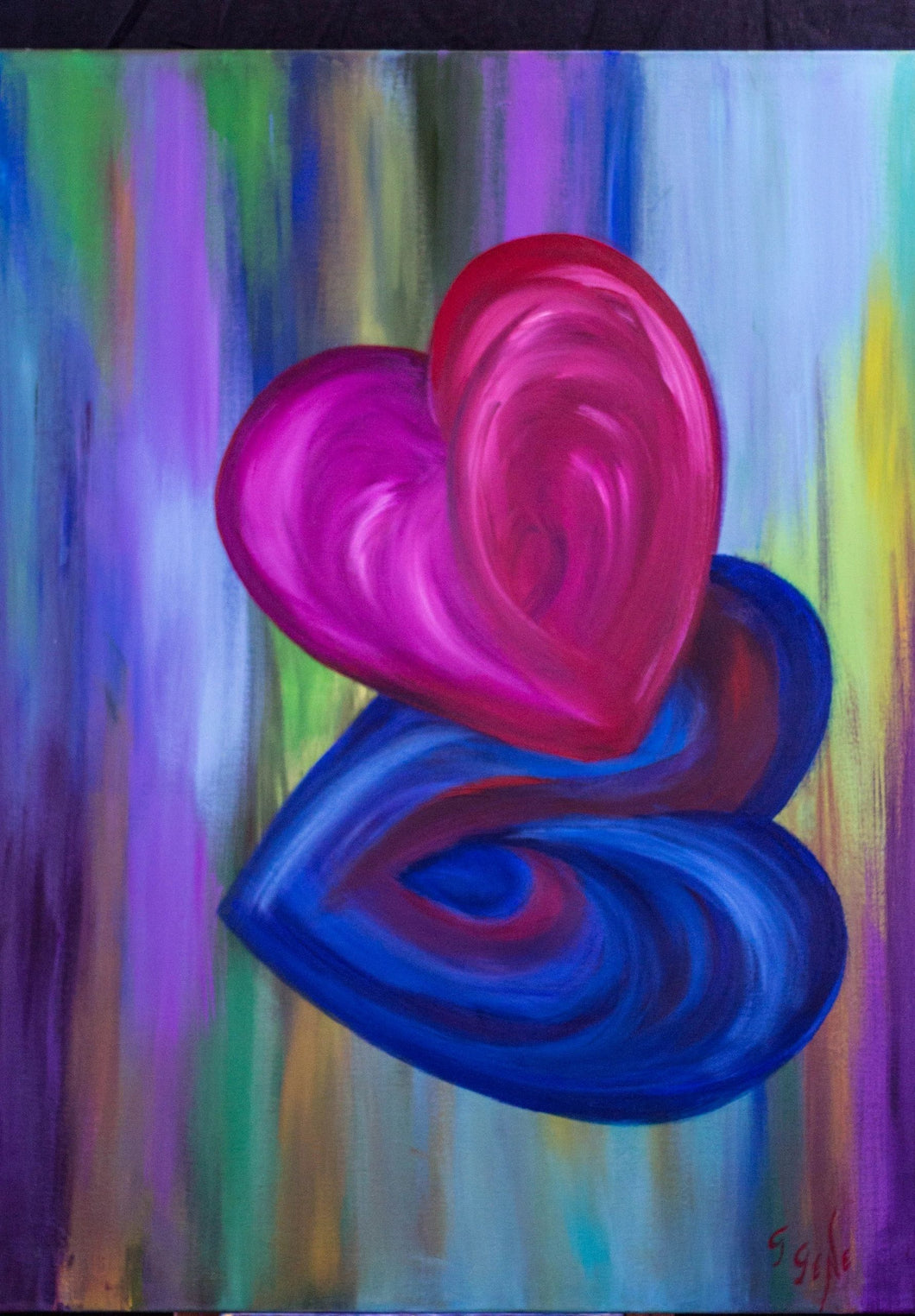 Two hearts that beat as one 30 x 40