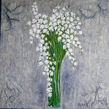 Load image into Gallery viewer, White Spring Blossoms 36x36 Custom Framed