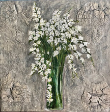 Load image into Gallery viewer, White Spring Blossoms 20x20