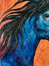 Load image into Gallery viewer, Blue Horse 24x24