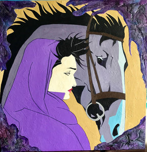Morisa a Girl and her Steed 36x36