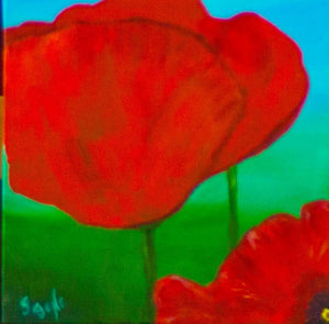 Peaceful Poppies #2 12x12