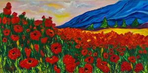 Poppy fields Blue mountains 12x24