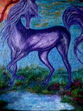 Load image into Gallery viewer, Purple Horse 48x60