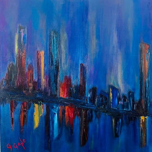 Reflections of the City Oil 20x20