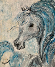 Load image into Gallery viewer, Blue Horse Oil 20x24