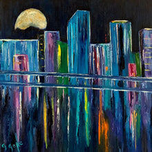 Load image into Gallery viewer, Moon over Miami 20x20 OIL