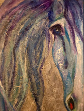 Load image into Gallery viewer, Wild Horses 3 Blue eye 24x30